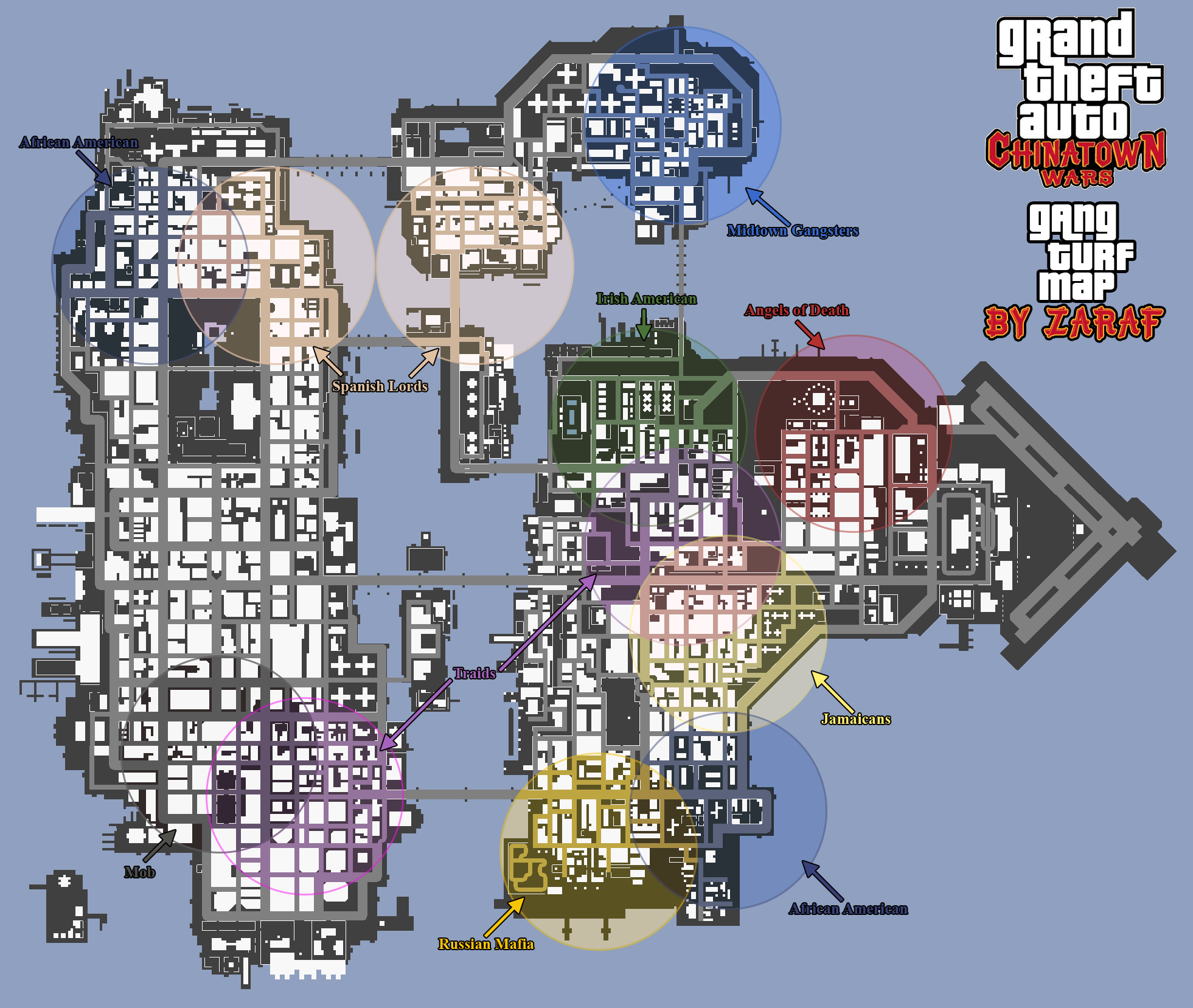 maps chinatown wars
