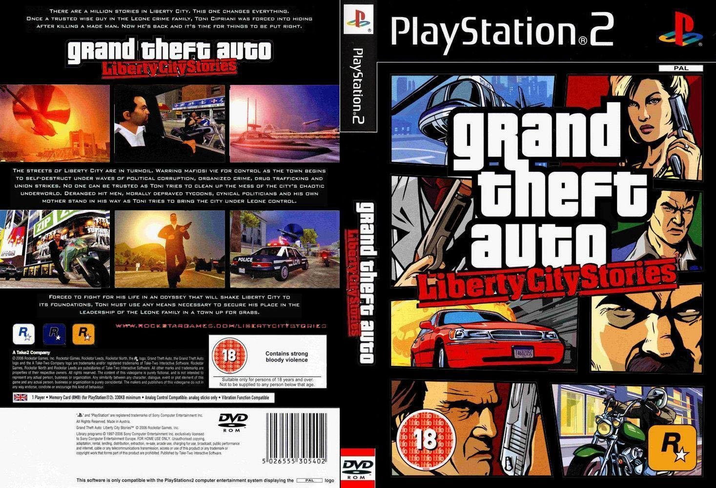 Grand theft auto liberty city stories dvd custom pal front